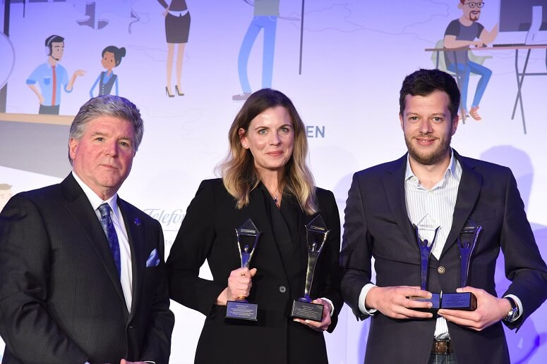 promio.net GmbH employees receive four golden Stevie Awards at the award ceremony in Munich
